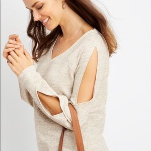 Maurices Slit Sleeve Pullover Sweater